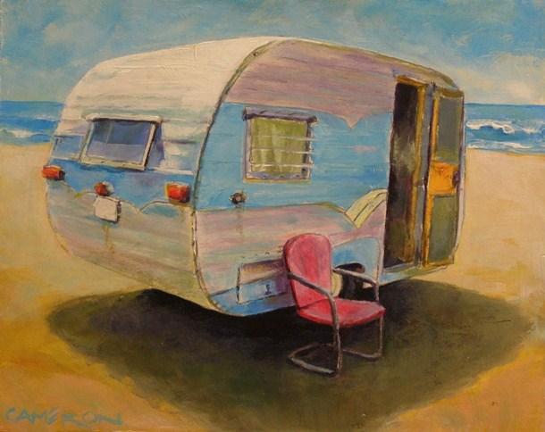 """OCEAN FRONT HOME"" original fine art by Brian Cameron"