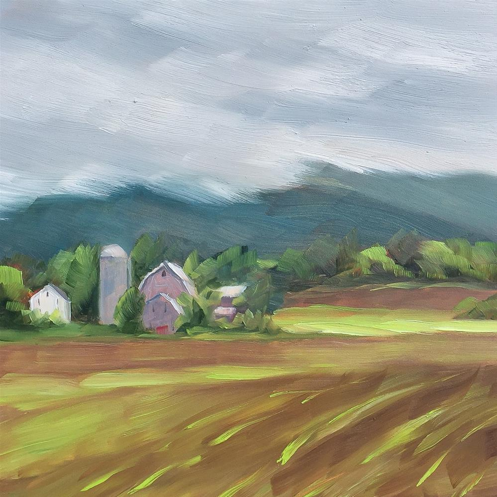 """#23 - Newly Planted Cornfield - Morristown, VT"" original fine art by Sara Gray"