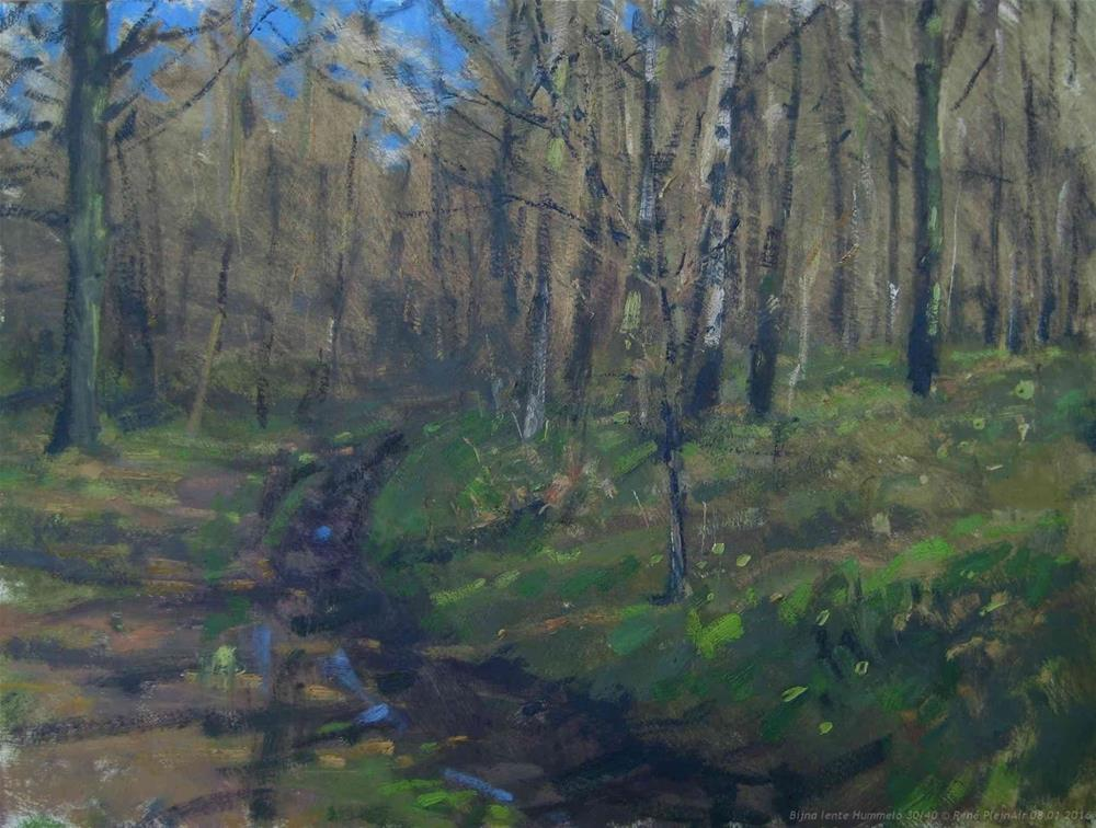 """Almost spring! Hummelo, The Netherlands"" original fine art by René PleinAir"