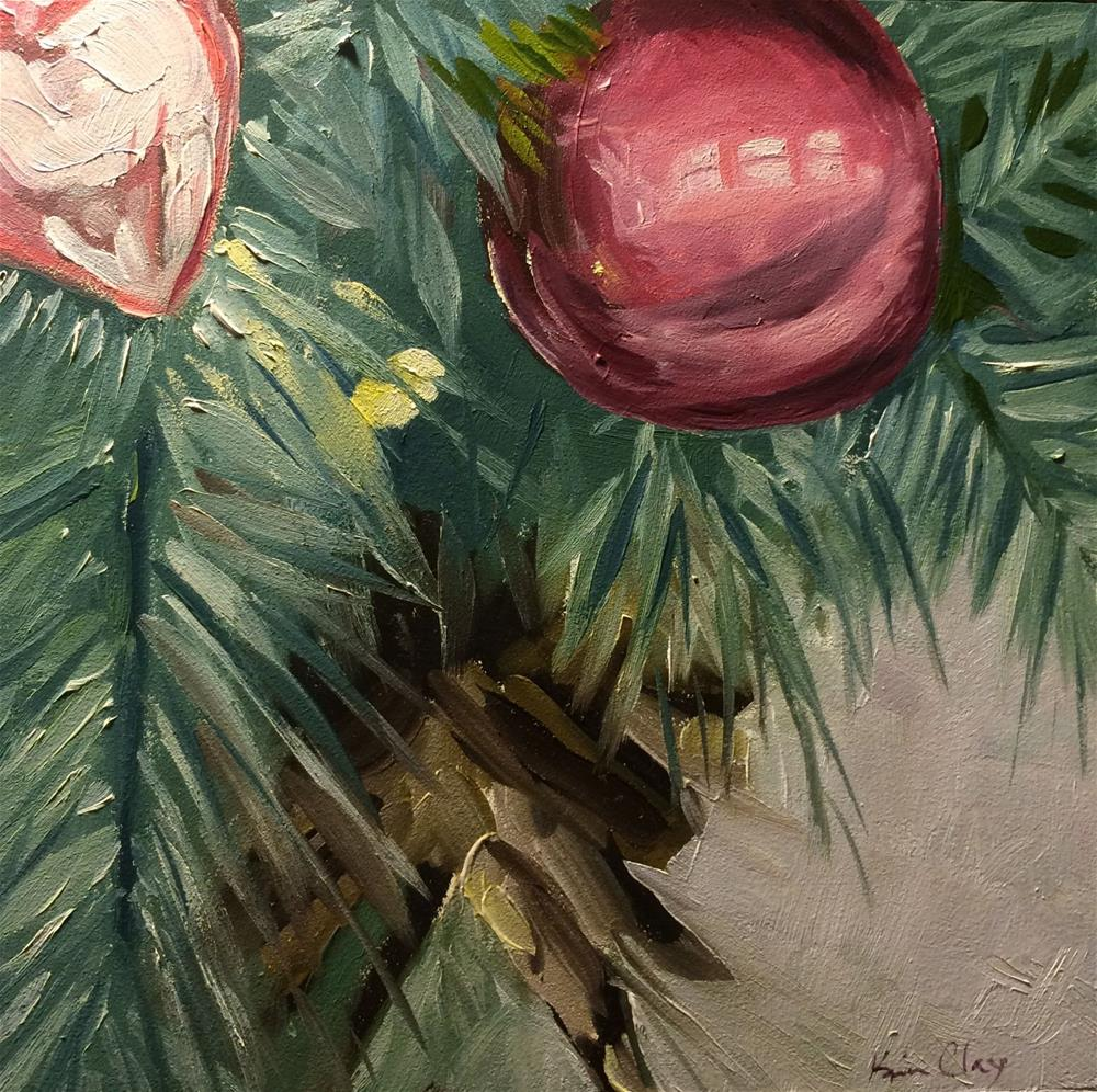"""""""The Quick Christmas Challenge"""" original fine art by Kim Clay"""