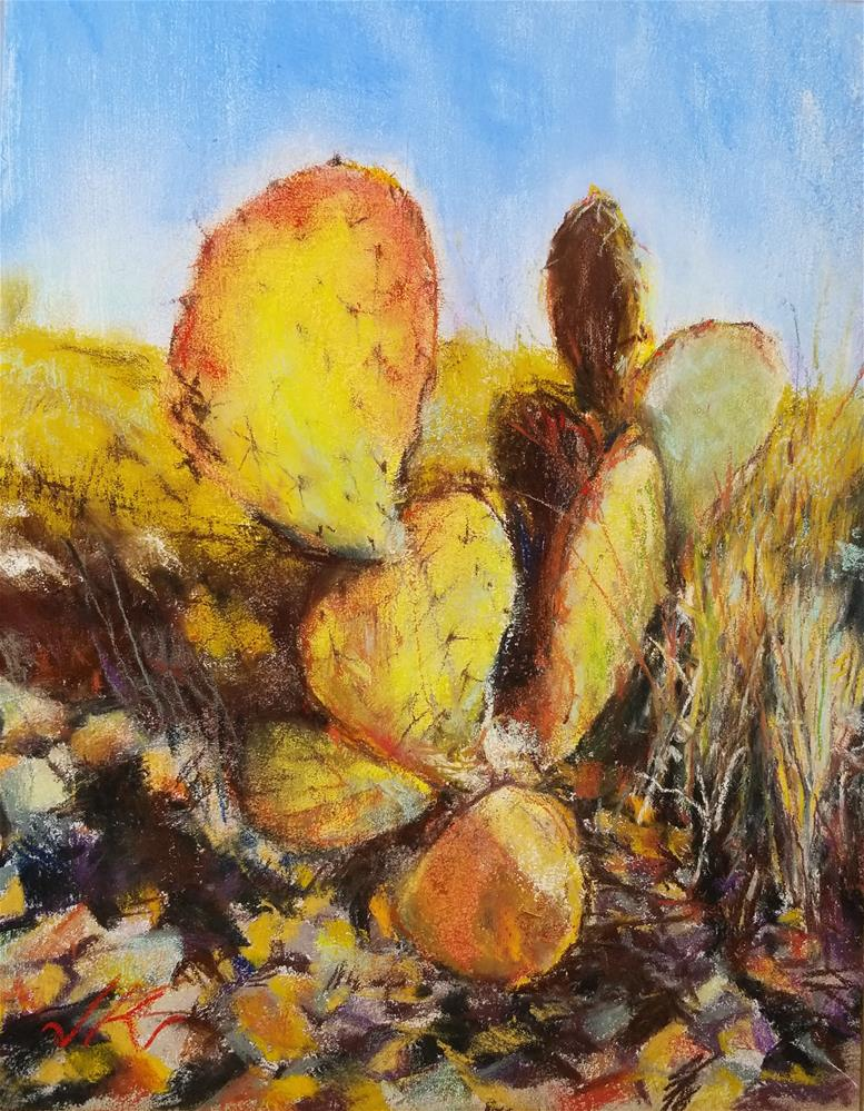 """Winter Opuntia"" original fine art by Jean Krueger"