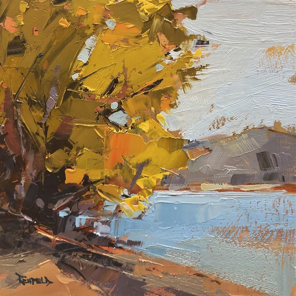 """Columbia River Fall Color"" original fine art by Cathleen Rehfeld"