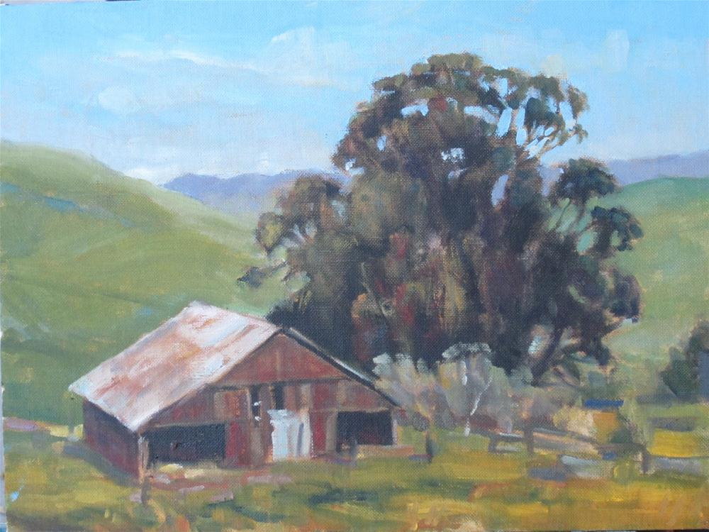 """""""barn in the valley"""" original fine art by Leigh Alexandra Sparks"""