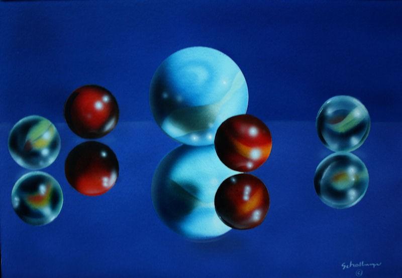 """""""Marbles # 23"""" original fine art by Fred Schollmeyer"""