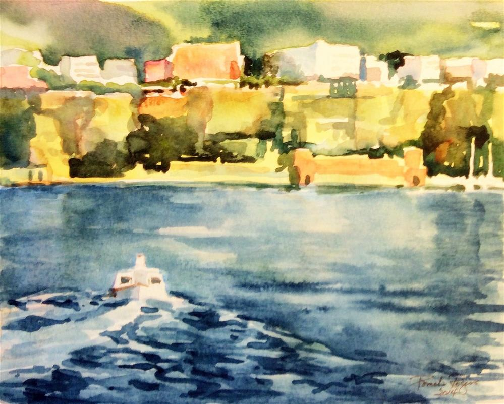 """Sorrento, Late Afternoon"" original fine art by Pamela Jane Rogers"