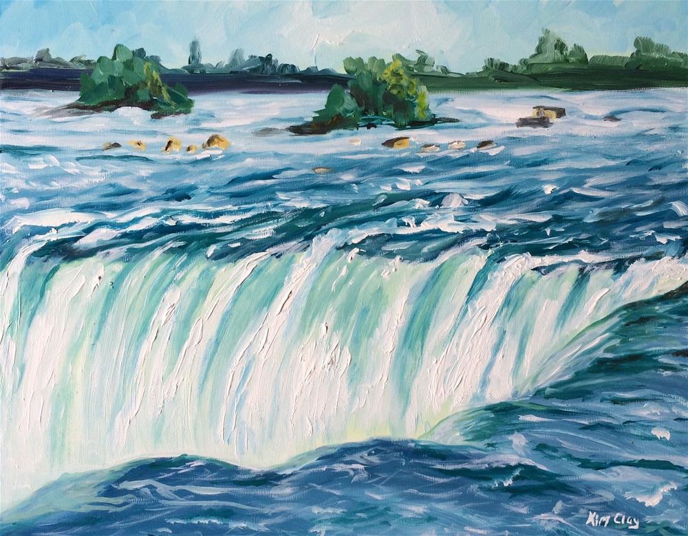 """""""Niagara Falls Canadian Side"""" original fine art by Kim Clay"""