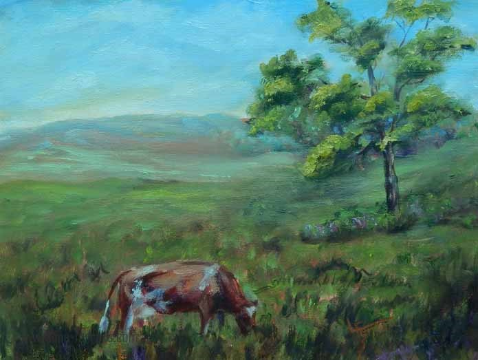 """Contentment"" original fine art by Lina Ferrara"