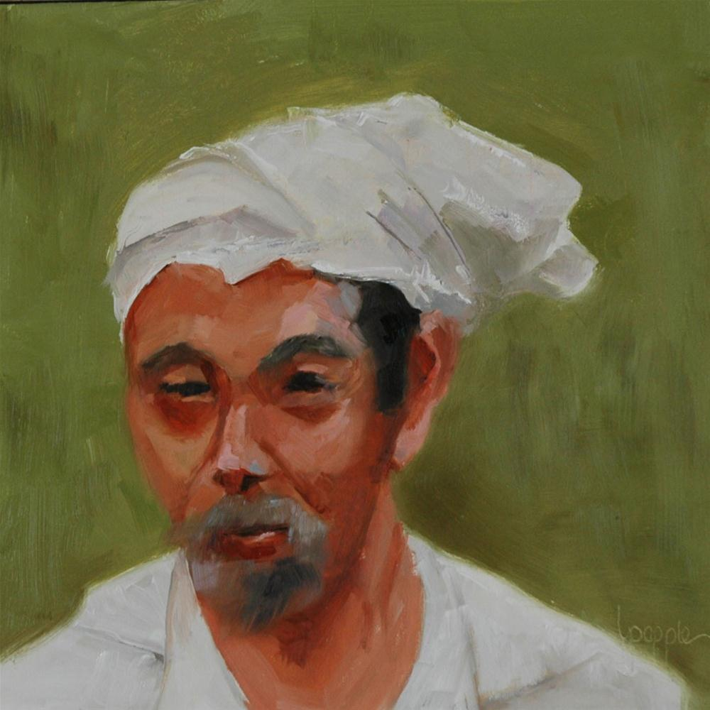 """""""A FACE FROM BALI"""" original fine art by Linda Popple"""