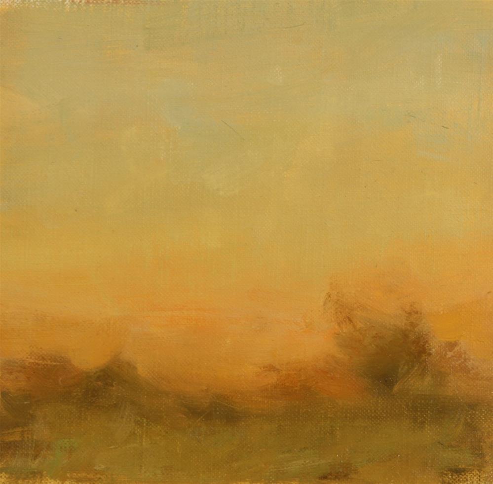 """""""Fall Sunset 13"""" original fine art by Scott Serafica"""