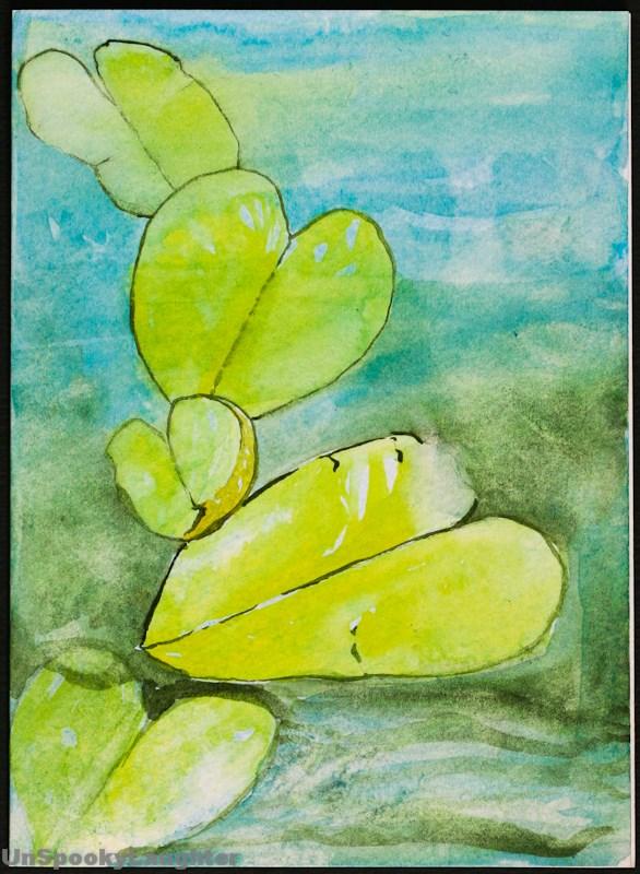"""""""Daily Card #64"""" original fine art by A.E.E. Miller"""