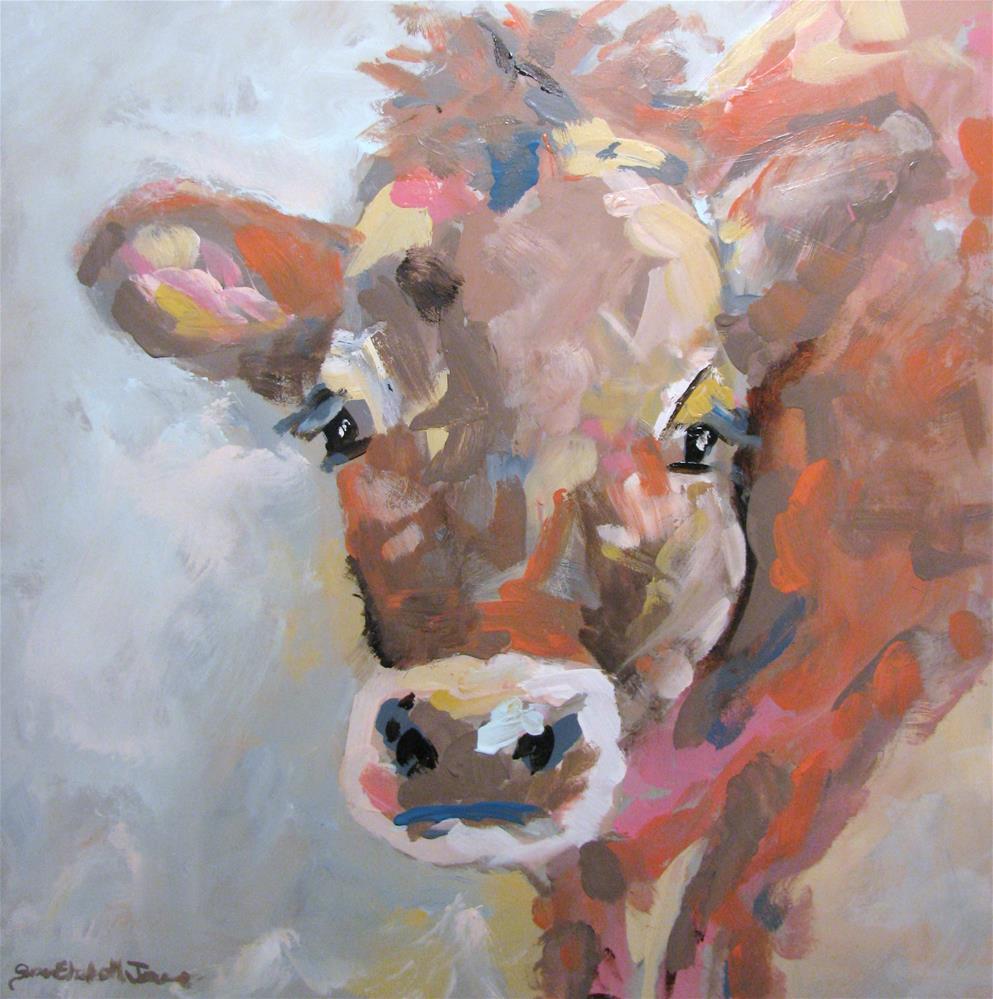 """Bessy Moo"" original fine art by Susan Elizabeth Jones"