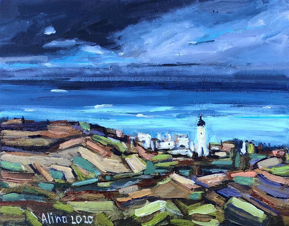 """Lighthouse"" original fine art by Alina Vidulescu"