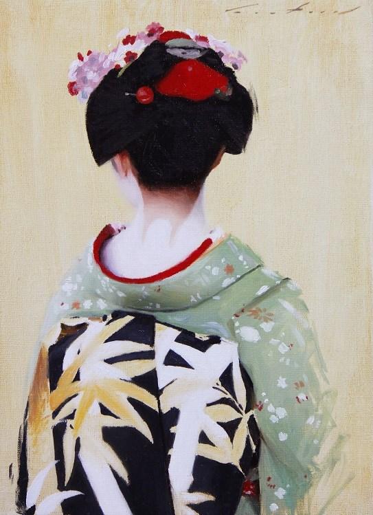 """The Scarlet Fringe (Ichikoma)"" original fine art by Phil Couture"