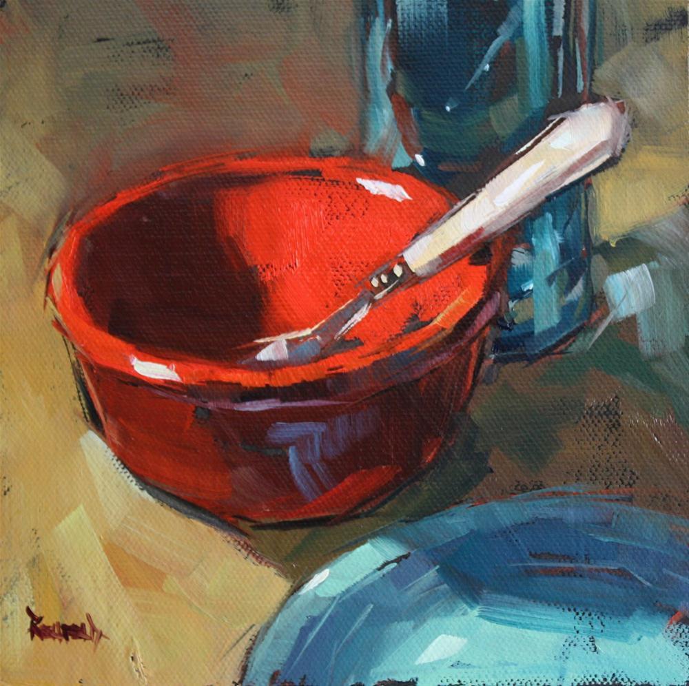 """Red Bowl"" original fine art by Cathleen Rehfeld"