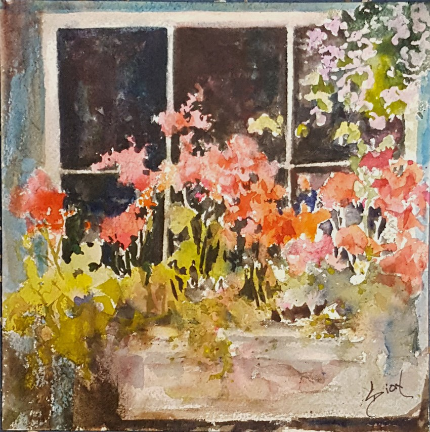 """Summer Window"" original fine art by Sue Dion"
