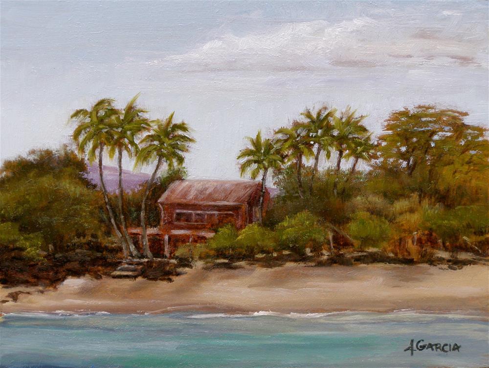 """Red House"" original fine art by Jeannie Garcia"