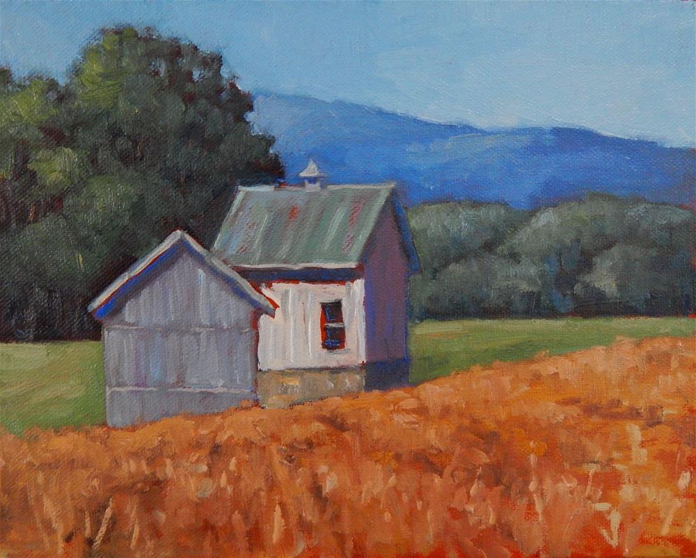 """Sunny Barns"" original fine art by Lisa Kyle"