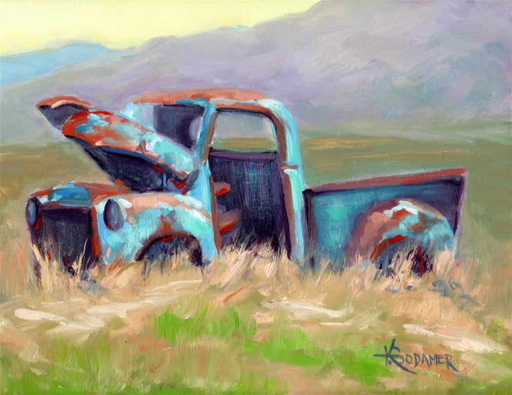 """Abandoned Too"" original fine art by Kathy Bodamer"