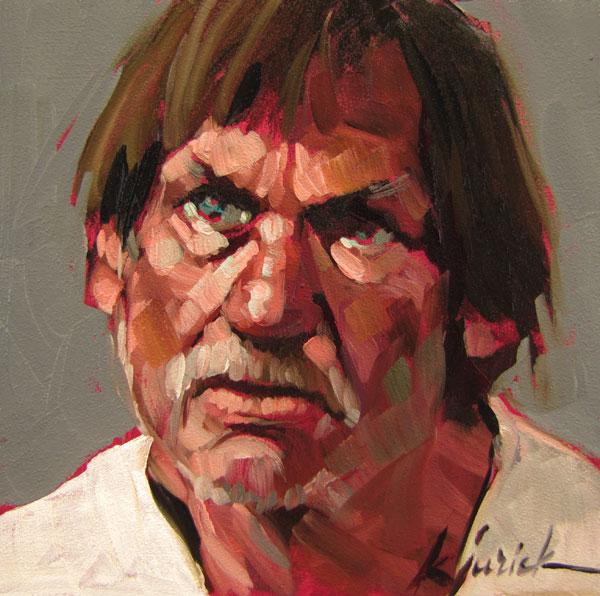 """100 Faces, No. 64"" original fine art by Karin Jurick"