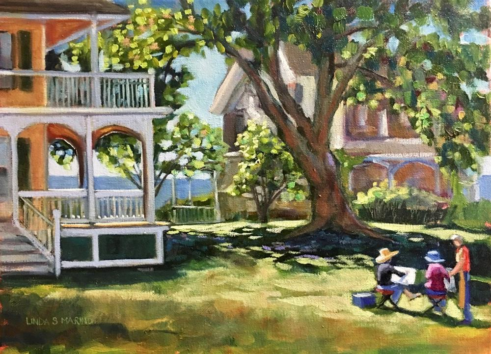 """The Lesson, Thimble Island Branford, CT"" original fine art by Linda Marino"