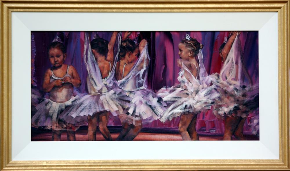 """Little Ballerinas"" original fine art by Claire McCall"