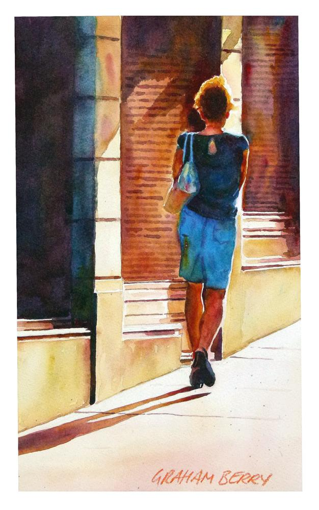 """""""Lady in blue"""" original fine art by Graham Berry"""