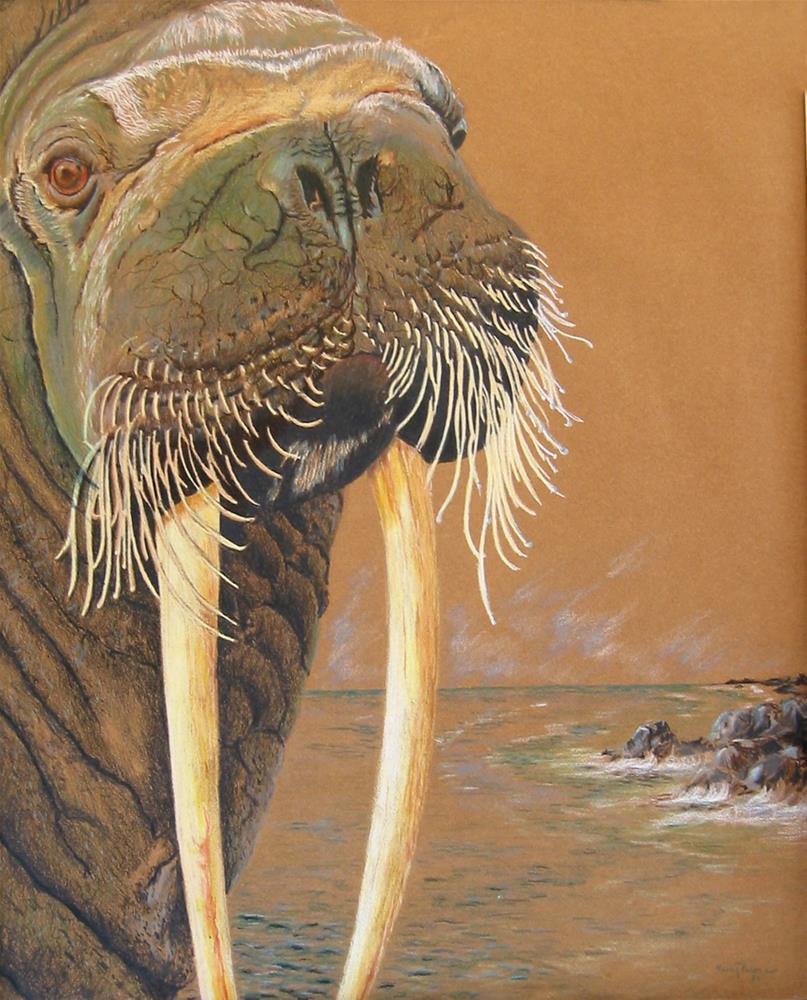 """""""Walrus"""" original fine art by Nancy Parsons"""