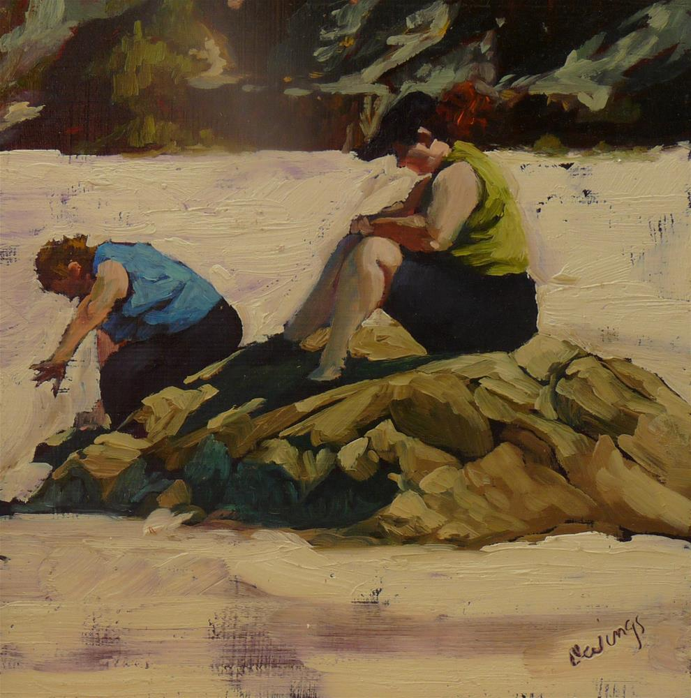 """Beauties at the Beach"" original fine art by Sharman Owings"