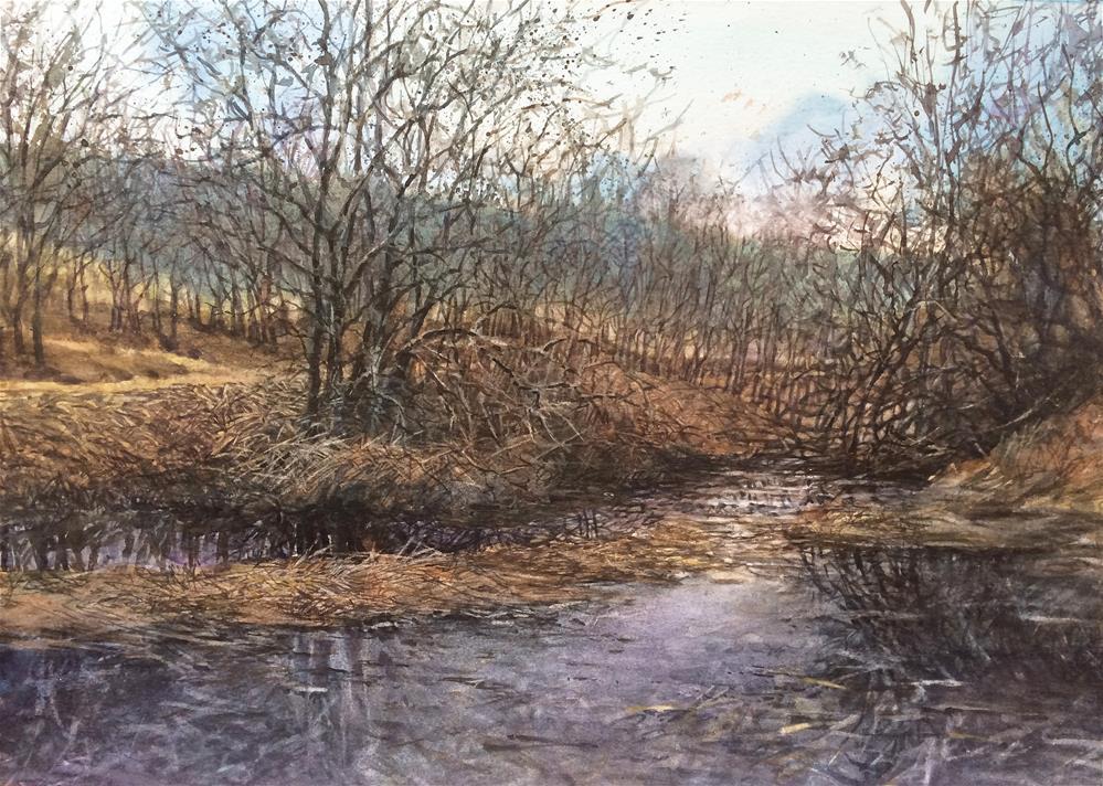"""""""Trail Side"""" original fine art by Nicoletta Baumeister"""
