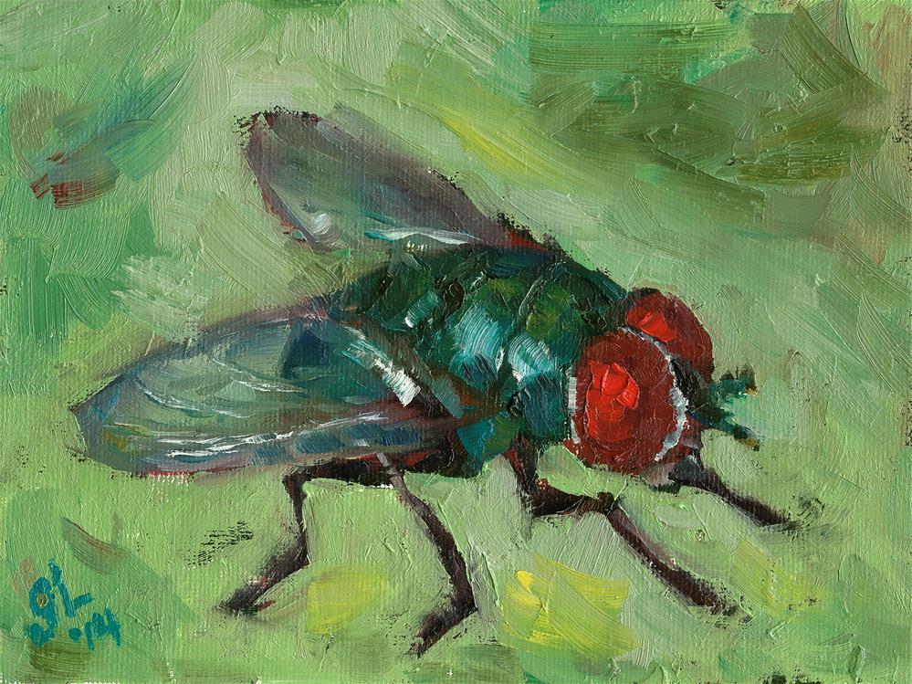 """Fly"" original fine art by Grant Lounsbury"