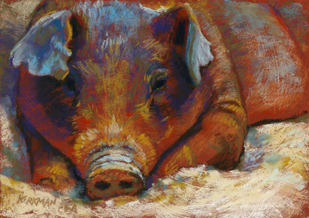 """Wallowing"" original fine art by Rita Kirkman"