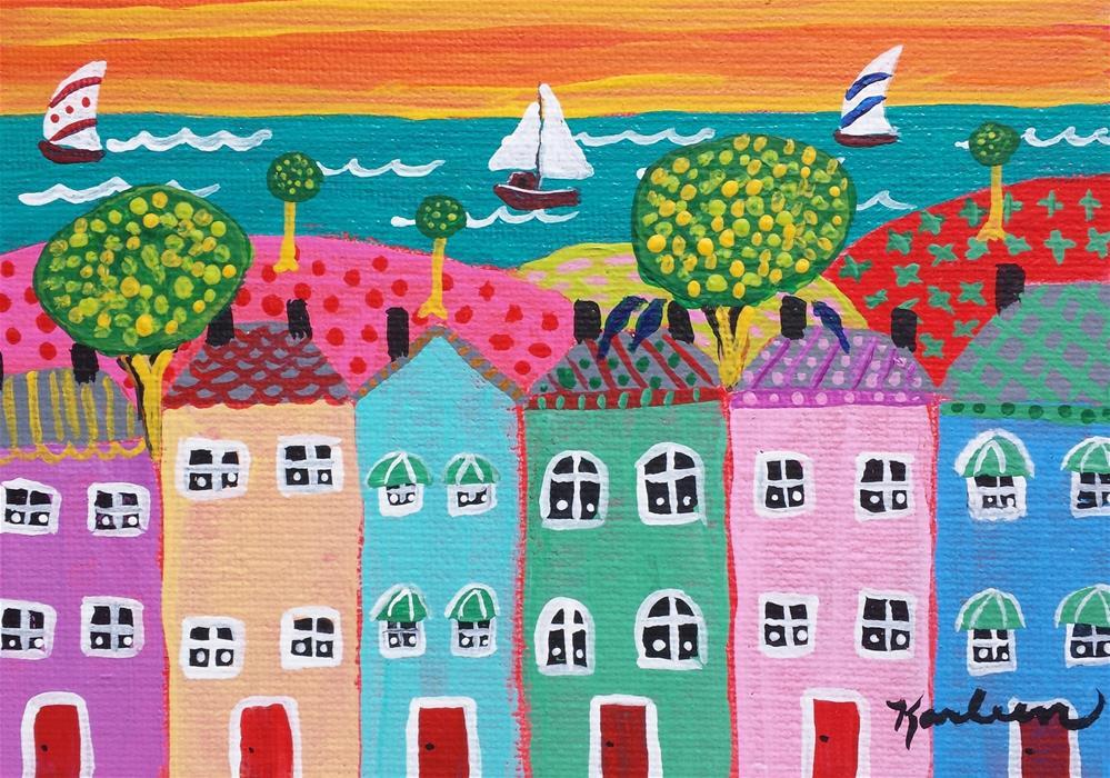 """Summer Sailing"" original fine art by Karleen Kareem"