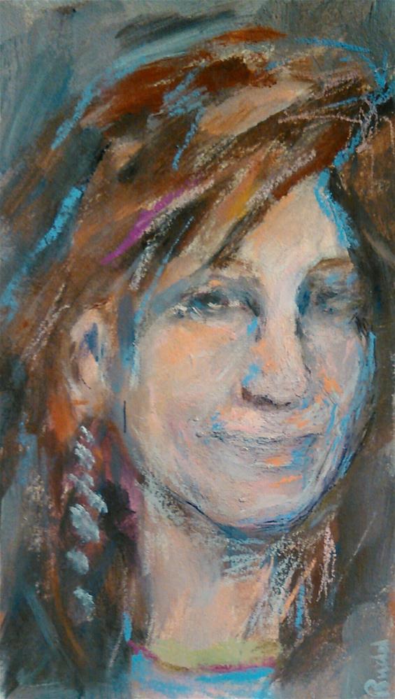 """""""Girl in Sienna"""" original fine art by Ann Rudd"""
