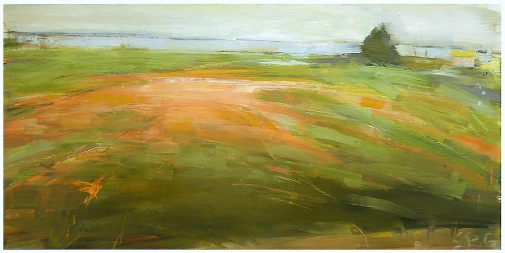"""""""L.I. farm (4)"""" original fine art by Steven Goodman"""