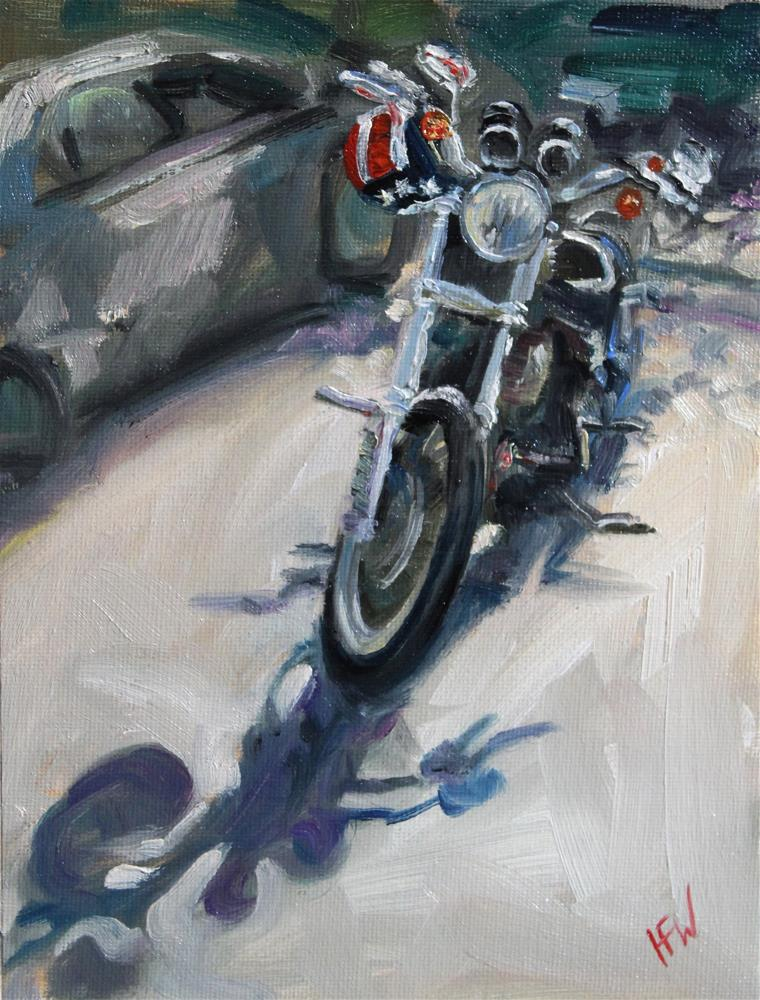 """Star and Stripes Helmet"" original fine art by H.F. Wallen"