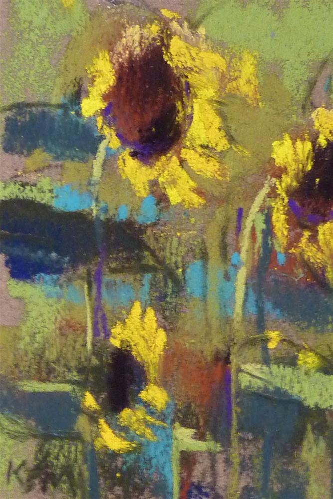 """Sunflower IV"" original fine art by Karen Margulis"
