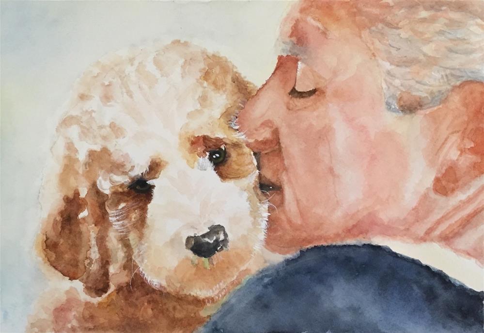 """A Dad & His Pup"" original fine art by Melissa Gresham"