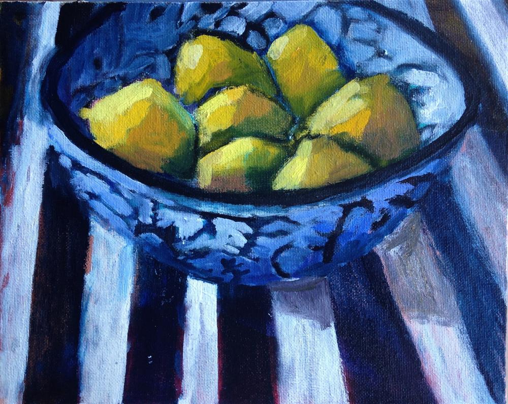 """Lemon Nest"" original fine art by Pamela Hoffmeister"