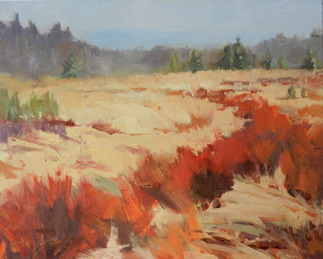 """The View from Old Gardner Road oil landscape painting by Robin Weiss"" original fine art by Robin Weiss"