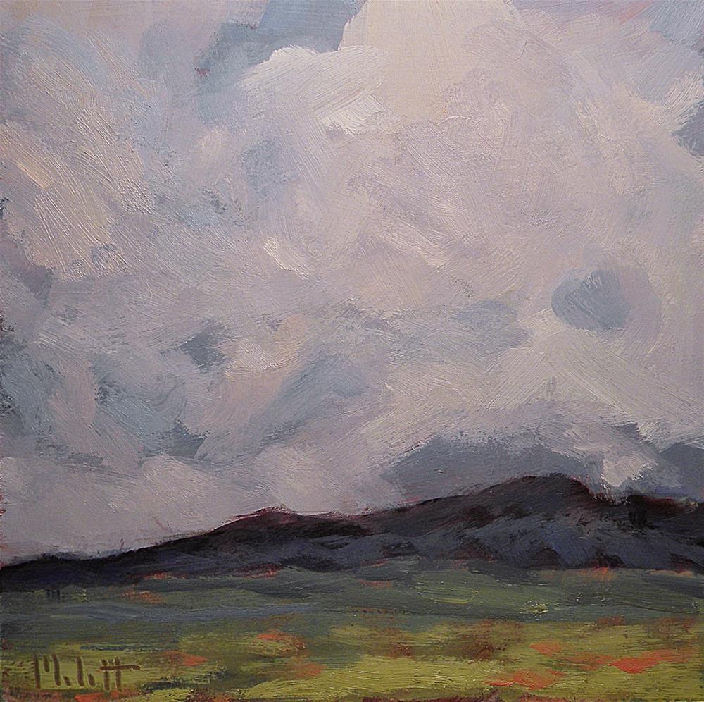 """cotton candy skies clouds landscape"" original fine art by Heidi Malott"