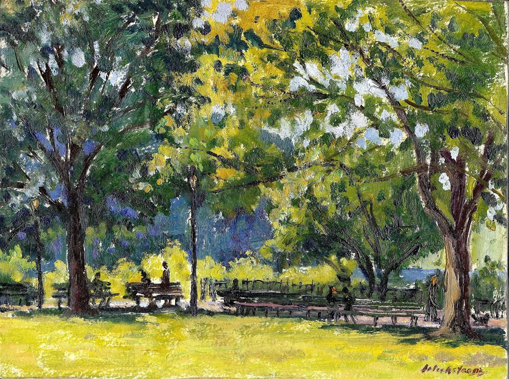 """Backlight, Inwood Hill Park, NYC"" original fine art by Thor Wickstrom"