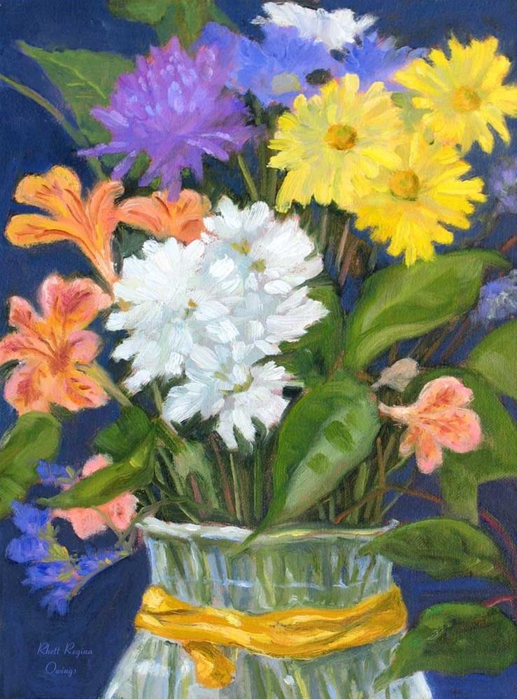 """""""Valentine Bouquet"""" original fine art by Rhett Regina Owings"""