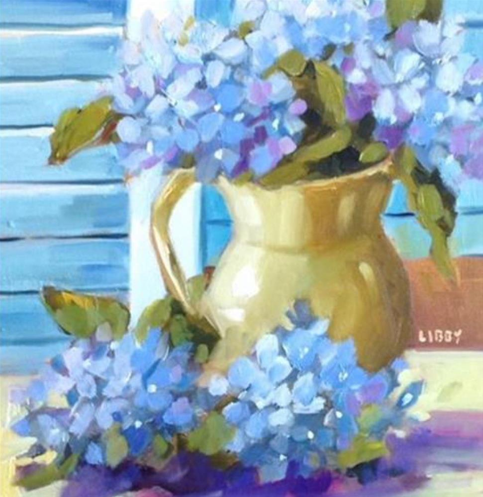 """""""French Pitcher"""" original fine art by Libby Anderson"""