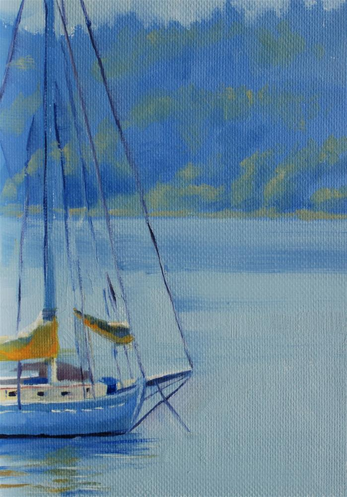 """Ferry Line"" original fine art by Susan McManamen"