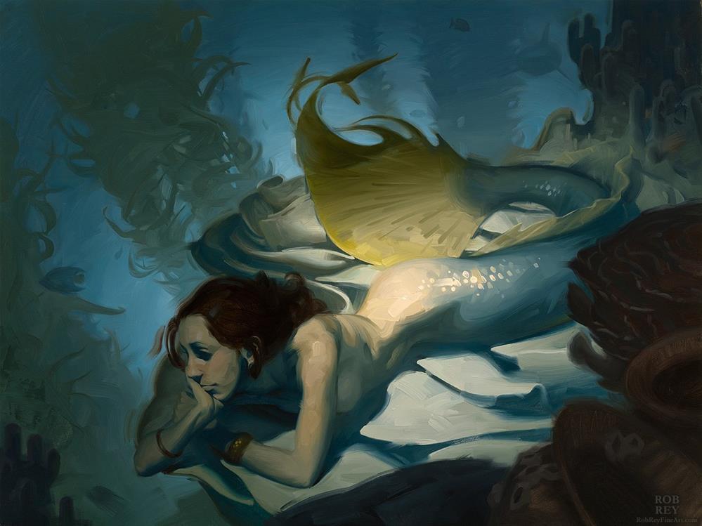 """""""Shadowy Deep"""" original fine art by Rob  Rey"""