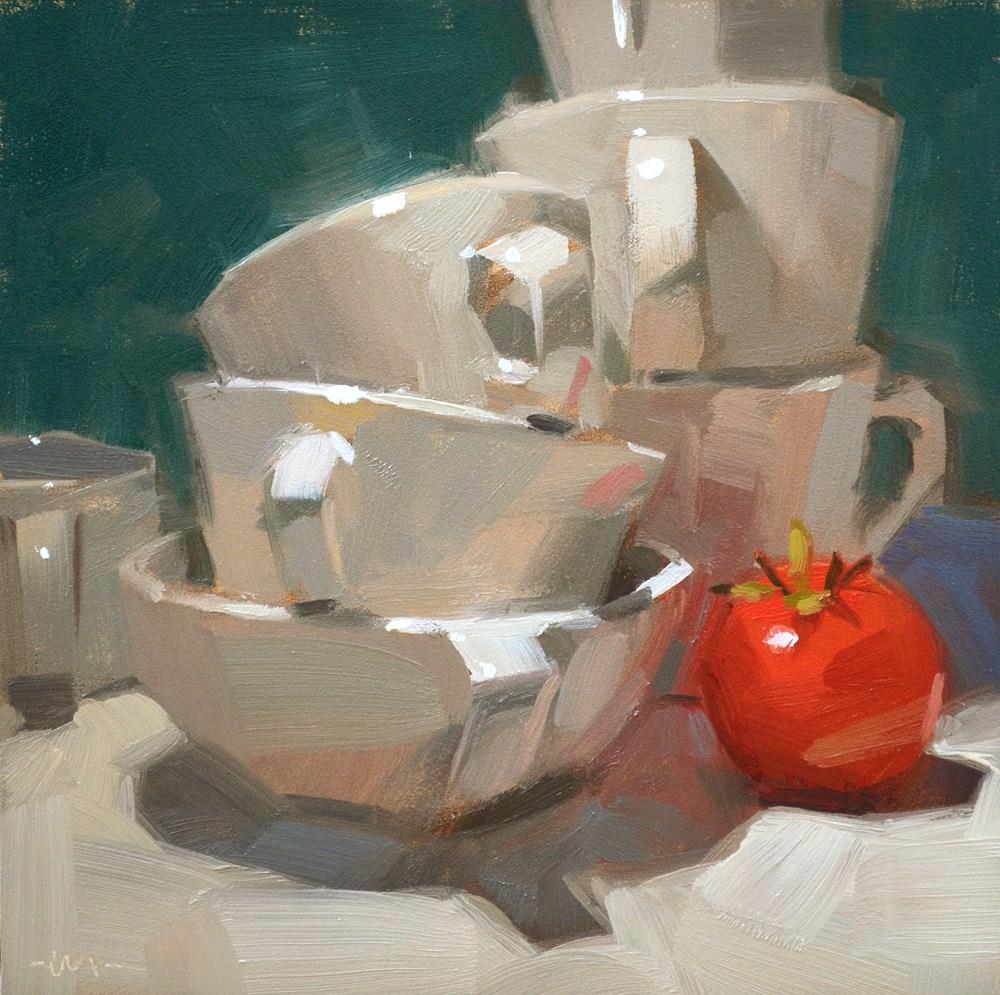 """Protecting the Tomato"" original fine art by Carol Marine"