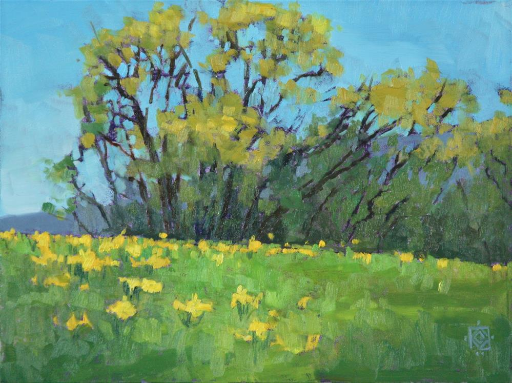 """Golden meadow"" original fine art by Carol Granger"
