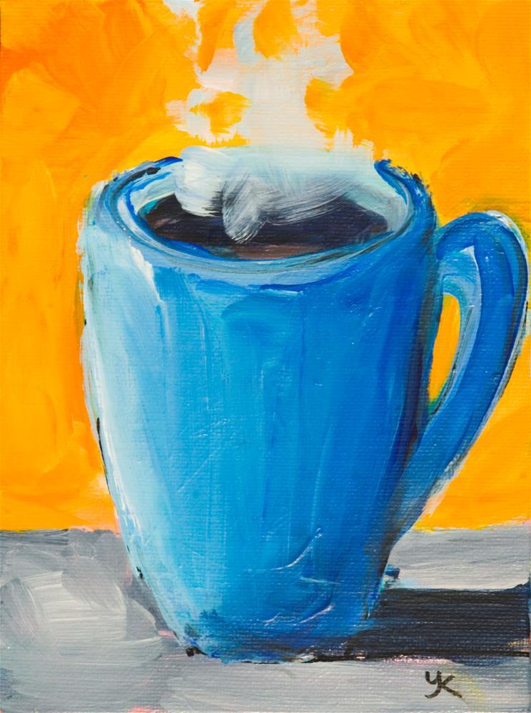 """Coffee Mug #1"" original fine art by Yulia Kazansky"