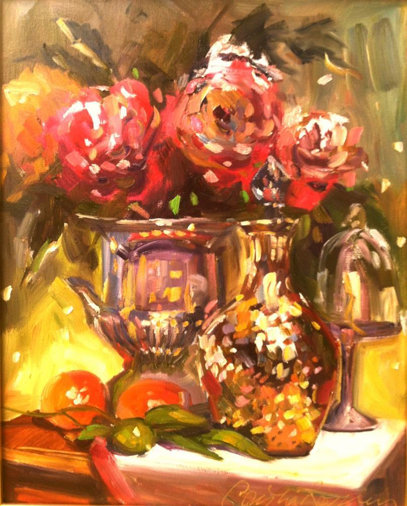 """GOLDEN DECANTER"" original fine art by Cecilia Rosslee"