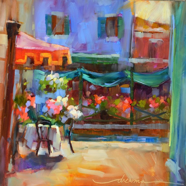 """""""Sunny Day in Burano and Marco Island…Did Someone Say Sunshine??"""" original fine art by Dreama Tolle Perry"""